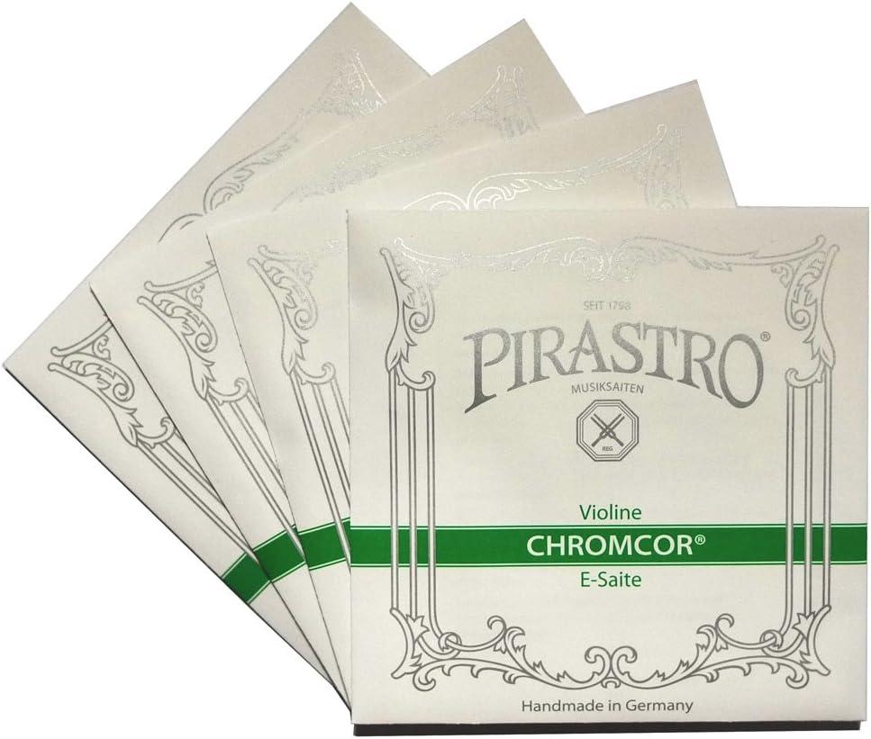 VH Workshop-Pirastro Chromcor 4//4 Violin String Full set 319020 Medium Gauge Ball End E,Made in Germany