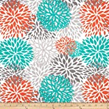 Premier Prints Indoor/Outdoor Blooms Pacific Fabric By The Yard