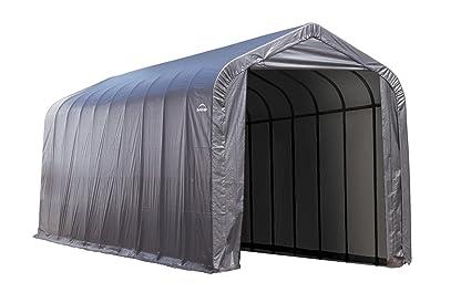 Amazoncom Shelterlogic 15 X 24 X 12 Ft Peak Frame Garage Shelter