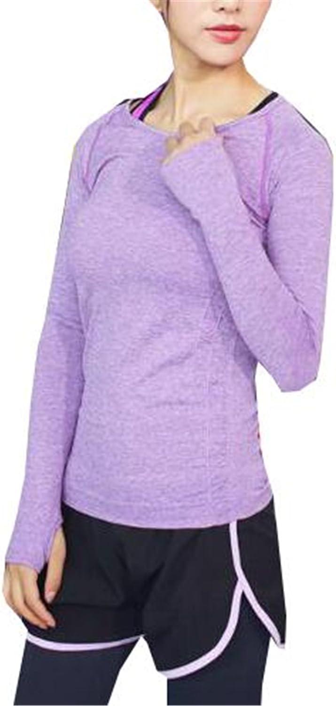 AILIENT T-Shirt Langarm f/ür Damen mit Rundhals Yoga T-Shirt Sportshirt Laufshirt Fitnessshirt f/ür Sport Normallacks