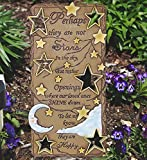 Memorial Garden Plaque - In Remembrance Stone with Loving Bereavement Saying - Perhaps They are Not Stars in the Sky - Memorial Stepping Stone - In Loving Memory Gift
