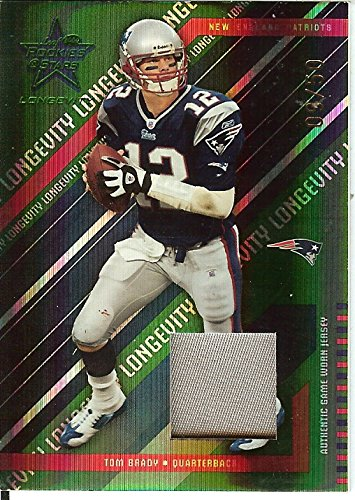 Football NFL 2004 Rookies Stars Longevity Emerald Tom Brady 9/50 by tom brady