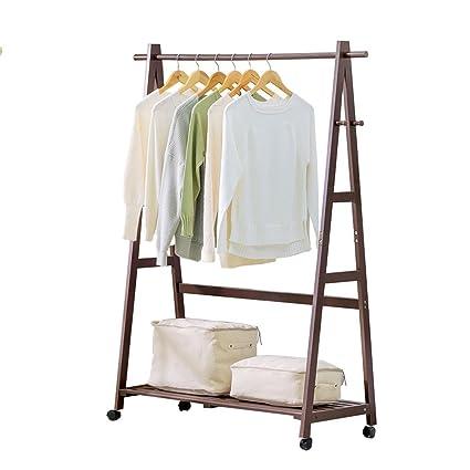 Tendedero de secadora con polea, ropa de madera / sombrero / zapatero Tendedero de ropa perchero de pie multifunción individual tipo varilla, 3 ...