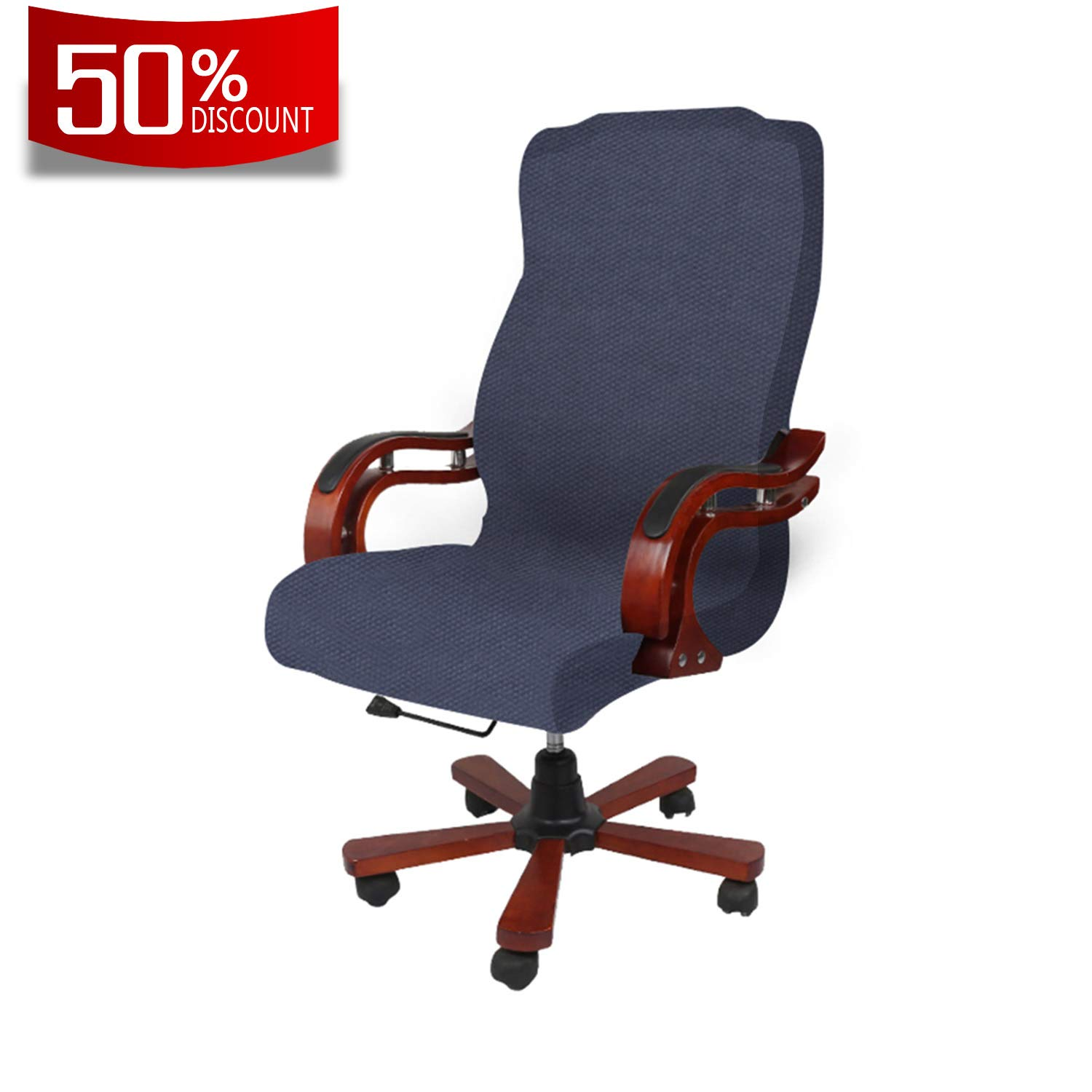 Granbest Office Chair Cover Computer Chair Universal Boss Chair Cover Modern Jacquard Style High Back Large Size