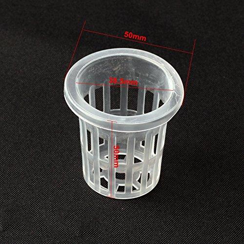 Best Garden Tools 30pcs Dia38.5mm Mesh Pot Net Basket Hydroponic Aeroponic Vegetable Nursery Pots Agriculture Spatial Soilless Culture Equipment