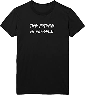 MYMERCHANDISE Letters The Future Is Female T-Shirt Camiseta Shirt para Hombre Hombres Camisa Negra Men Mens Tshirt 100% Algodón Regalo De Cumpleaños Navidad Mujer LG Men Black Men Shirt: Amazon.es: Ropa y