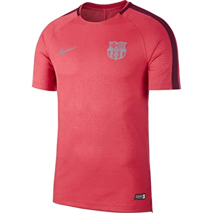 466ecc35e102c Nike 2018-2019 Barcelona Pre-Match Dry Training Football Soccer T-Shirt  Jersey (Tropical Pink)