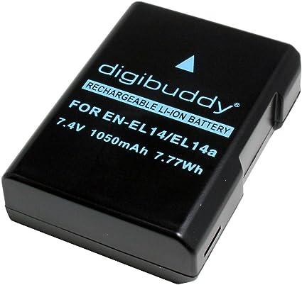 Batería para Nikon D3400, 1050mAh, substituye: EN-EL14 / EN-EL14a;