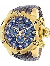 Invicta Men's Venom 18302 Gold Leather Swiss Chronograph Watch
