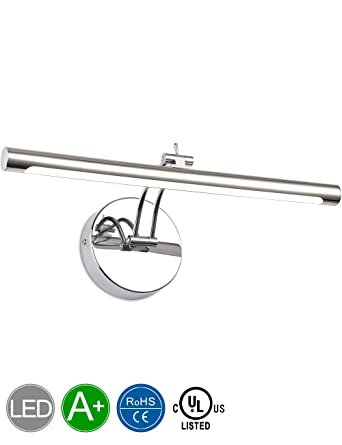 SOLFART LED Bathroom Lighting Vanity Lights With Stainless Steel Chrome  Waterproof For Bathroom Mirror Vanity Lighting