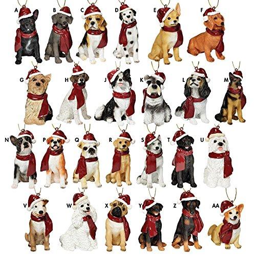 Dalmatian Dog Figurine (Design Toscano Assorted Dog Holiday Christmas Tree Ornament Xmas Decorations, 3 Inch, Set of 25, Full Color)