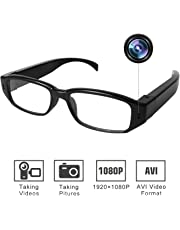 MEYUEWAL Camera Glasses 1080P - HD Camera Eyewear Max 32GB Memory Card - Eye Glasses with Camera - Wearable Camera(Card not Included)