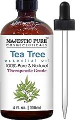 Majestic Pure Therapeurtic Melaleuca Alternifolia Tea Tree Oil with Dropper, 4