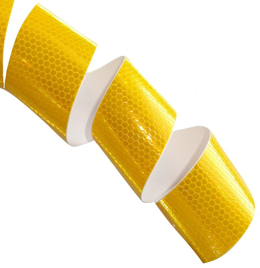 20m 5cm Cinta adhesiva de marcado reflectante de alta visibilidad color amarillo