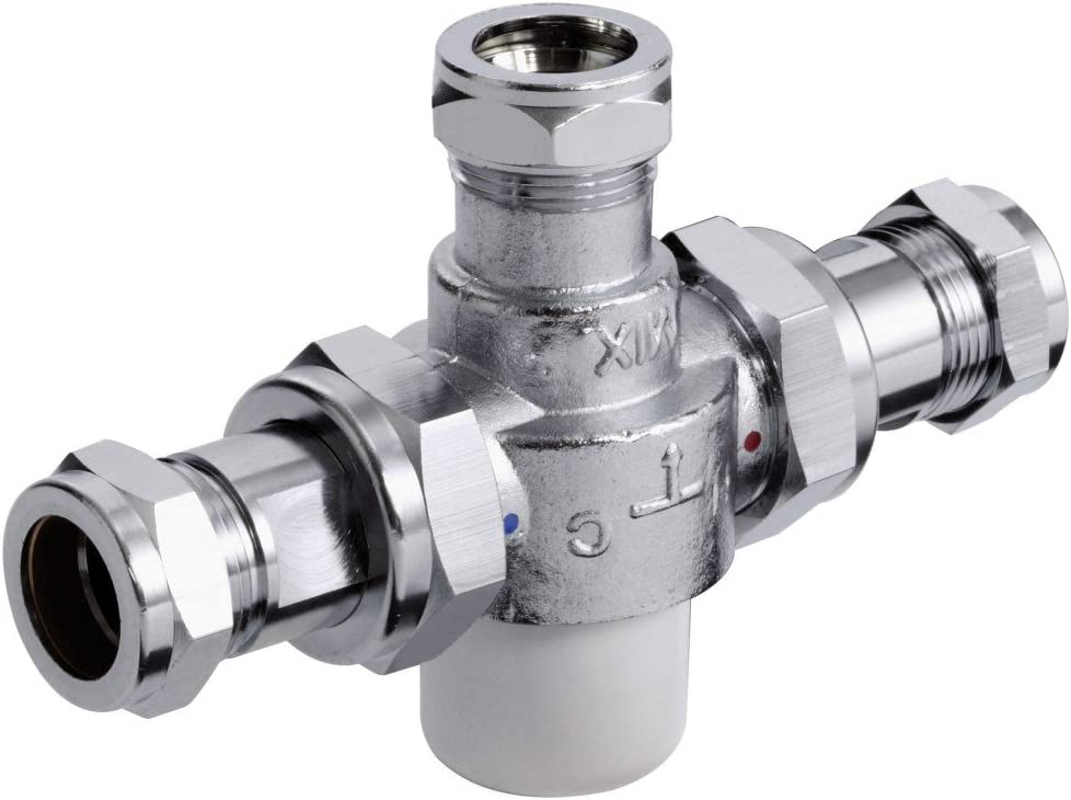 Chrome Bristan MT503CP-22 15mm Thermostatic Mixing Valve 22mm Inlets Outlet