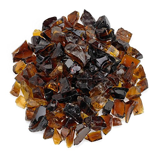 American Fireglass Auburn Recycled Fire Pit Glass - Medium (18-28Mm), 20 lb. Bag