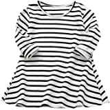 Vicbovo Clearance Sale Toddler Baby Girl Kids Casual Striped Long Sleeve Princess Dresses Shirt Dress Autumn Clothes