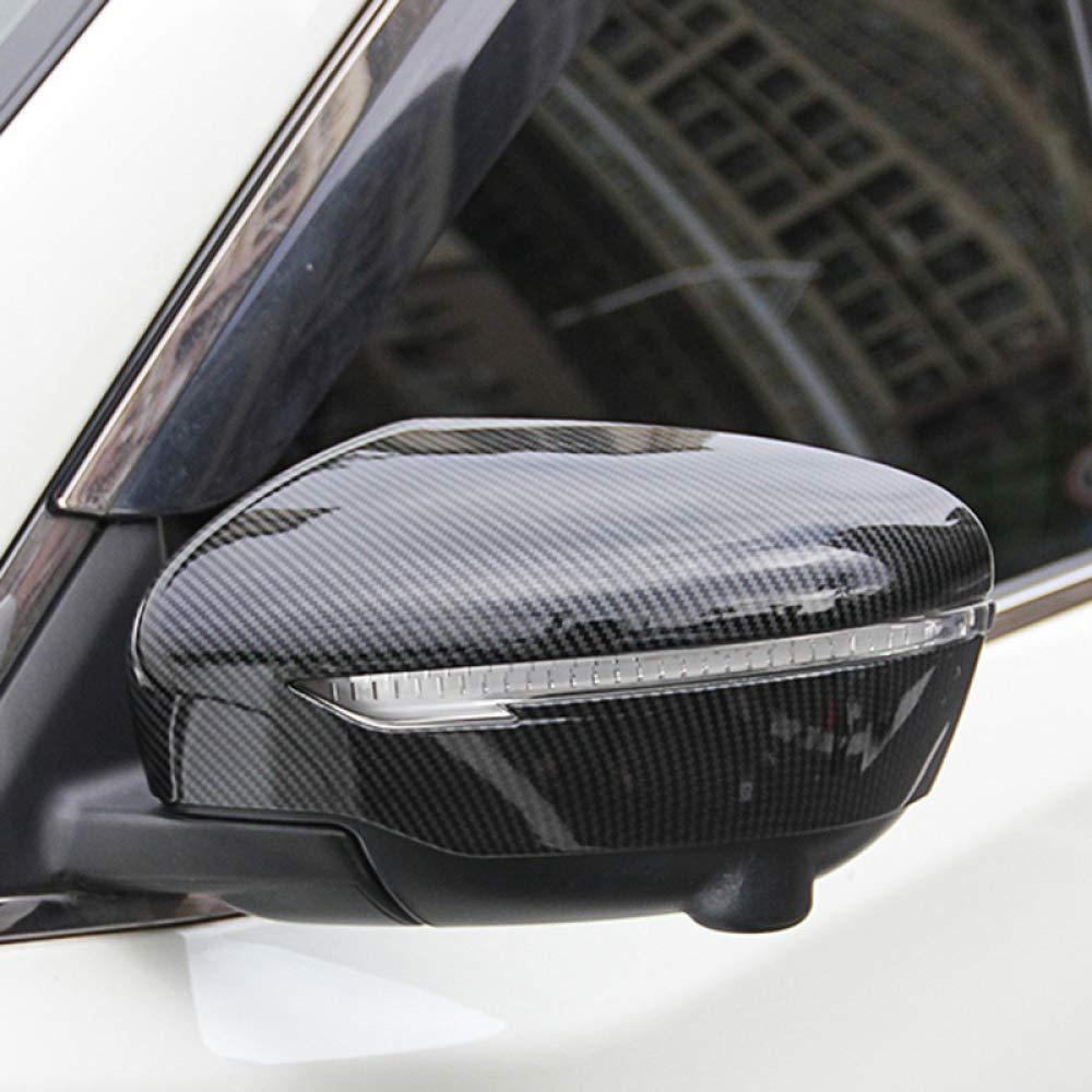 para Nissan Juke 2015-2018 Gnnlor Cubierta del Espejo de la Puerta Vista Trasera Superposici/ón Trim Car Styling