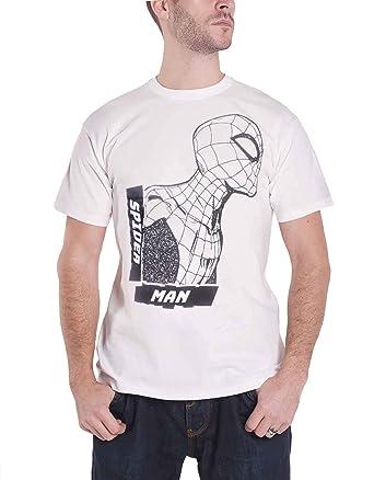Marvel tee - Camiseta de Spiderman, Color Blanco Blanco S: Amazon ...