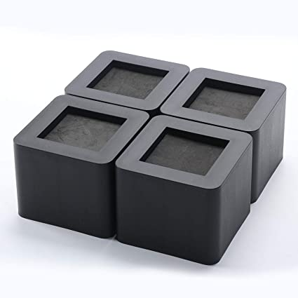 Awe Inspiring Square Bed Risers 4Pcs Chair Raise Furniture Lift Blocks Elephant Feet For Universal Home Office Frurniture Underbed Storage Heavy Duty Black Machost Co Dining Chair Design Ideas Machostcouk