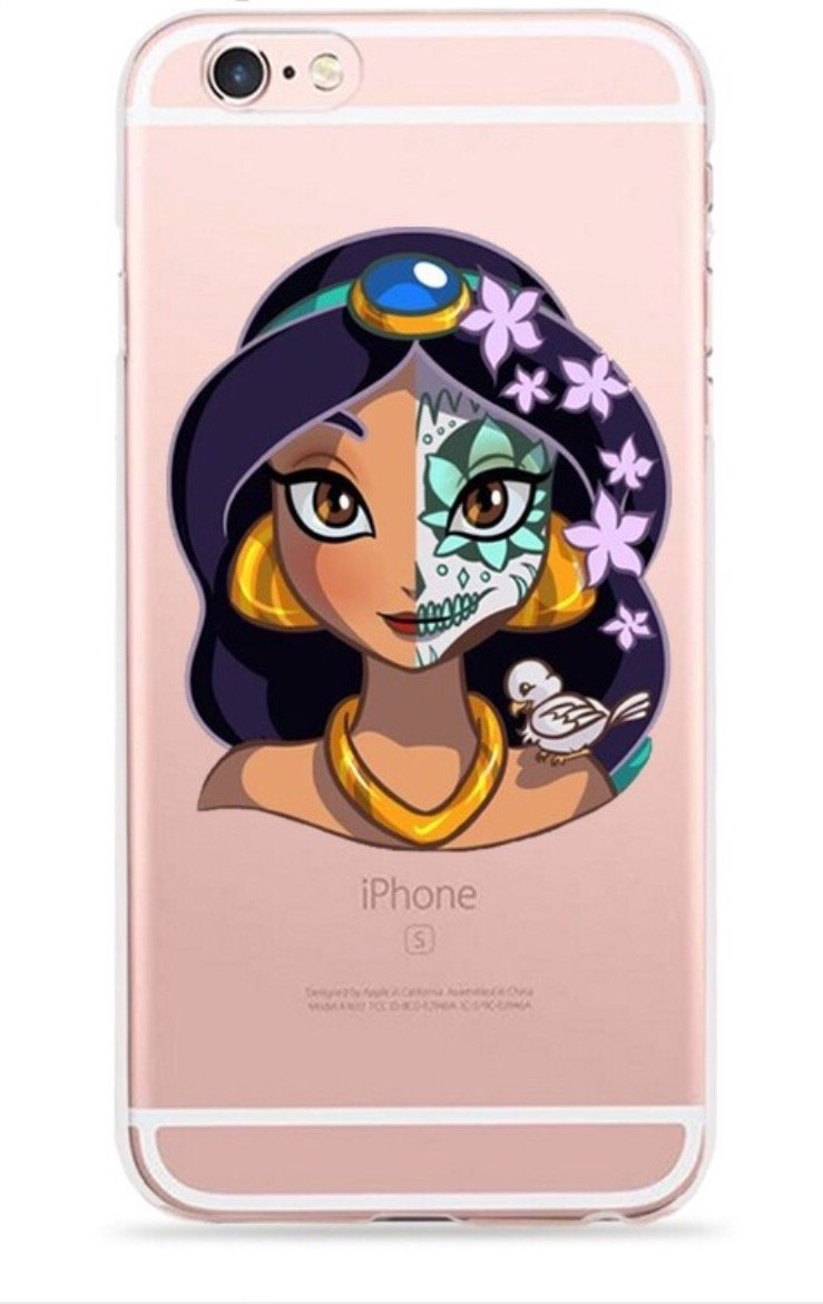 Phone Kandy シュガースカル プリンセス 透明 ハードシェル カートゥーンケース スキン&スクリーンガード iPod Touch 5または6用(Ssip02) iPod Touch 5 or 6 透明 B07QHGWWC7 ジャスミン iPod Touch 5 or 6