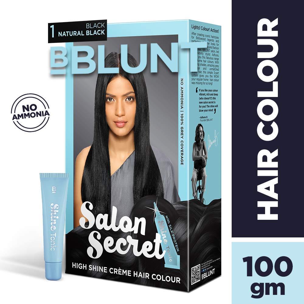 BBLUNT Salon Secret High Shine Creme Hair Colour, Black