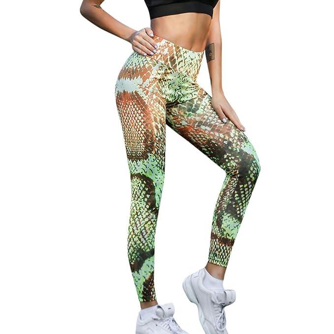Rooper Pantalones de Yoga con Estampado de Serpiente Pantalones Deportivos Pantalones Yoga Mujeres Mallas Deportivas