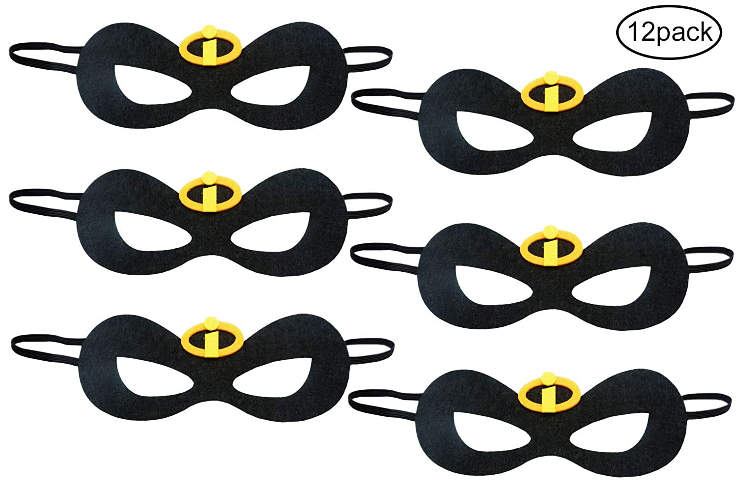 The Incredibles 2 Inspired Family Kids Party Dress Up Eye Masks Party Supplies 12 Pieces