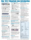 Mac OS X Mountain Lion Introduction Quick Reference Guide (Cheat Sheet of Instructions, Tips & Shortcuts - Laminated Card)