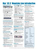Mac OS X Mountain Lion Introduction Quick Reference Guide (Cheat Sheet of Instructions, Tips and Shortcuts - Laminated Card), Beezix Inc., 1936220652