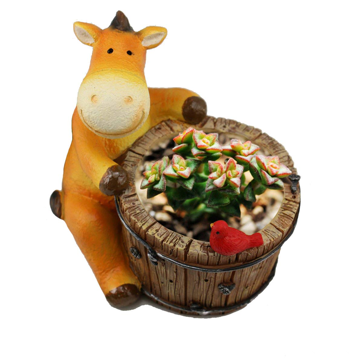 YOURNELO Zakka Cartoon Animal Plant Flower Pot Succulent Planters Vase Horse