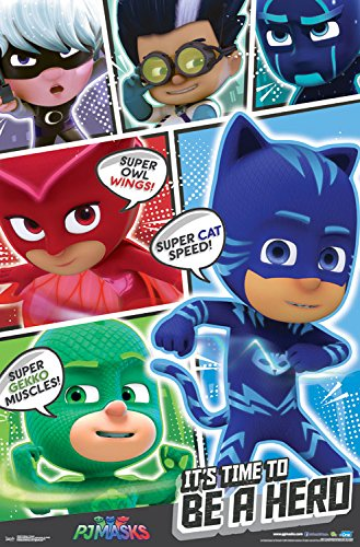 "Trends International Pj Masks Powers Wall Poster, 22.375"" ..."