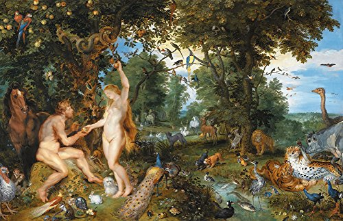 Jan Brueghel and Peter Paul Rubens - The Garden of Eden and the fall of Man, Size 16x24 inch, Poster art print wall décor from Get Custom Art