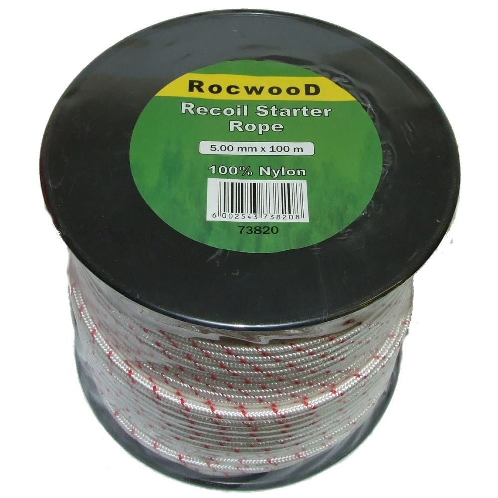 5mm x 100 Metres m Starter, Recoil Pull Cord, Rope Fits Many Honda Engines RocwooD