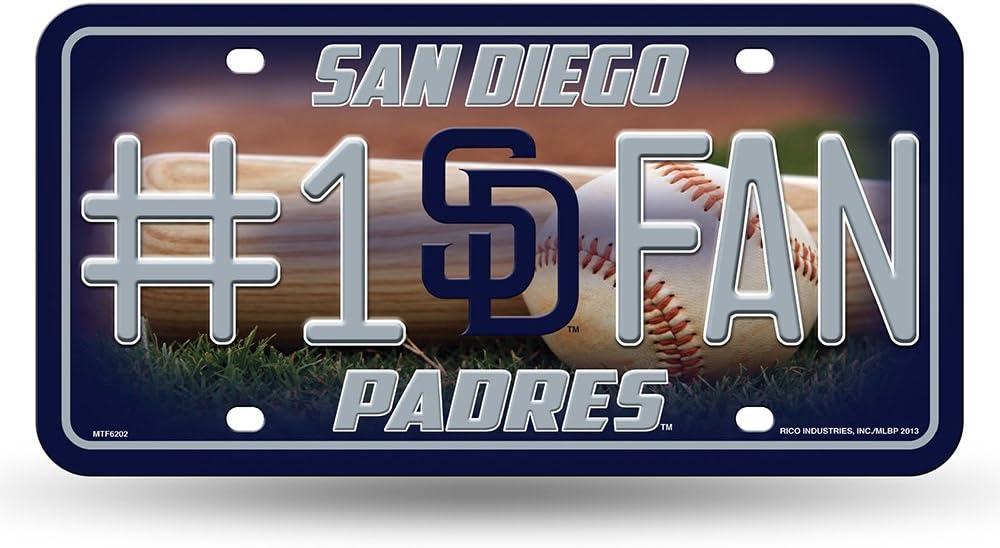 MTF5101 Rico MLB #1 Fan Metal Tag License Plate Rico Industries Inc