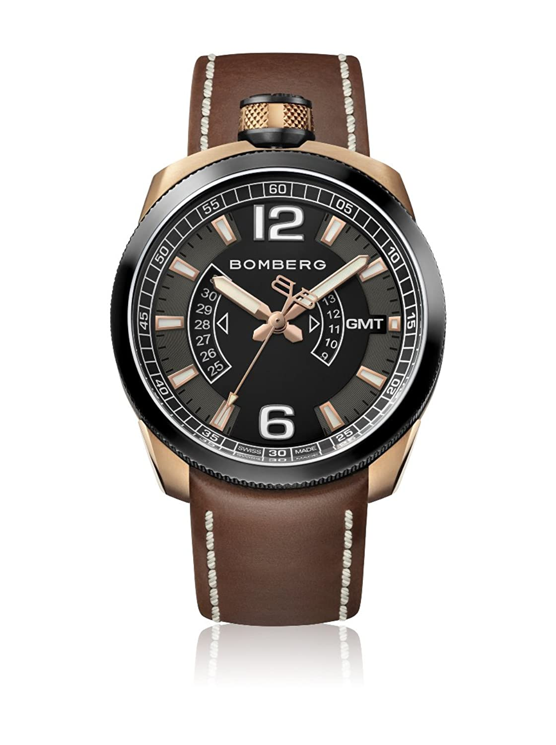 Bomberg BS45GMTTT.006.3 Bolt-68 collection Uhren - Swiss Made - 45 mm - Convertible taschenuhren