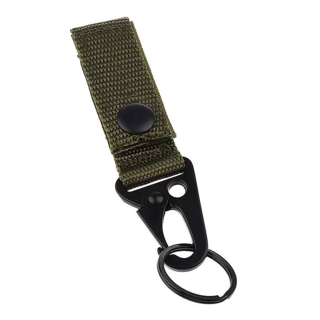 Lyanther Molle Webbing Attachement Strap Soporte para cinturón Clip para cinturón de 5cm (Verde Militar)