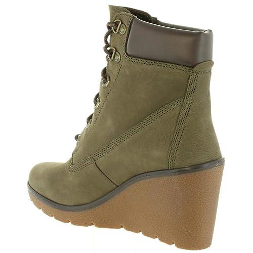 Timberland Paris Height Scarpe Donna Zeppa Verdi 0A1UT2 (39 EU): Amazon.es: Zapatos y complementos