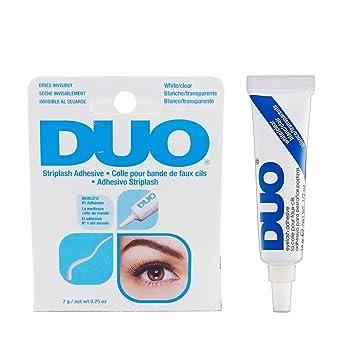 33db9141a25 Amazon.com : DUO EYELASH ADHESIVE CLEAR-WHT 1/4 OZ : Beauty