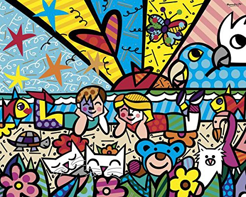 Heart Kids by Romero Britto Abstract Print 14x11