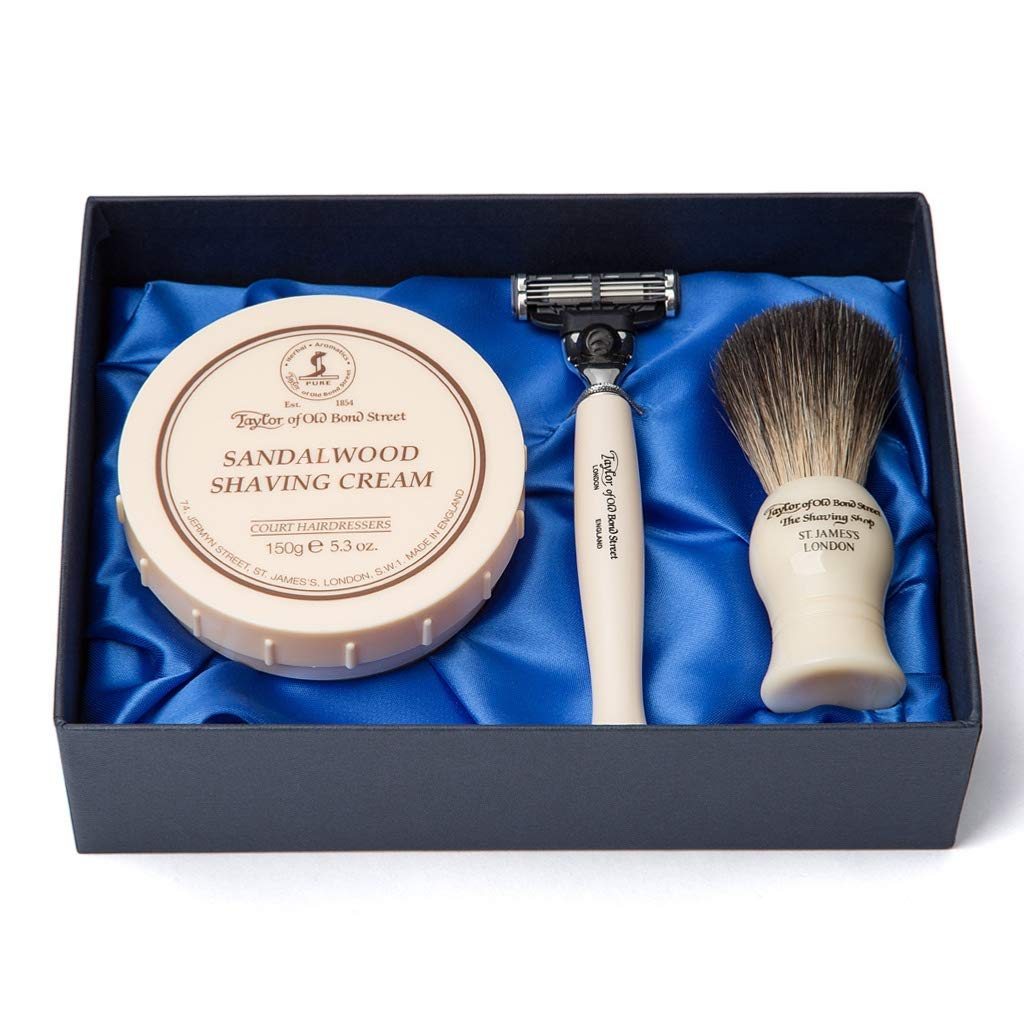 Sandalwood Satin Lined Gift Box by Taylor of Old Bond Street