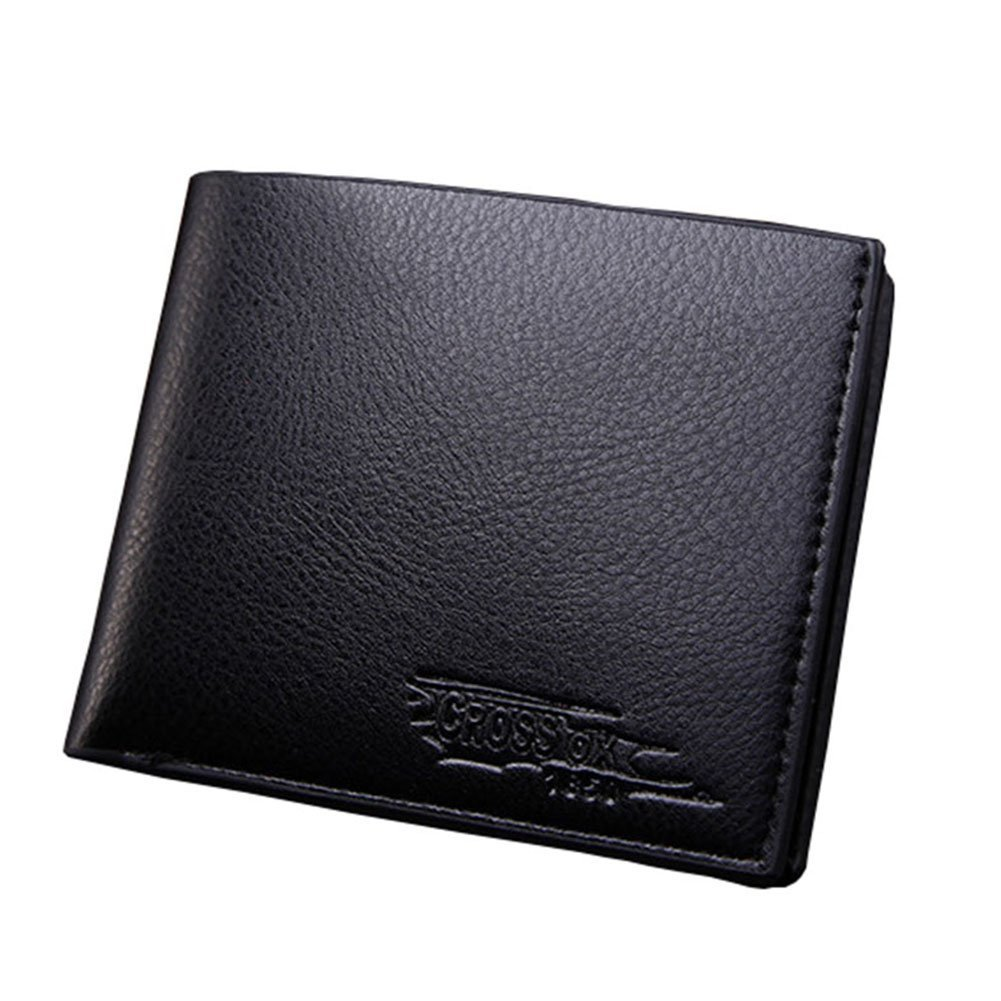 Bling Stars Mens Leather Wallet Extra Capacity Billfold Credit Card Men Purse Bifold