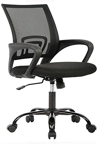 300lbs 360 Swivel Heavy Duty Office Chair Ergonomic Cheap Desk Chair Mesh Computer Chair Lumbar Support Modern Executive Adjustable Stool Rolling Swivel Chair