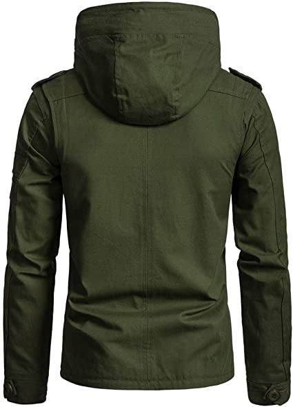 Pandaie-Mens Product Hoodies for Men Zip Up.Mens Winter Fashion Hat Removable Thickened Cotton Outwear Loose Jacket Coat