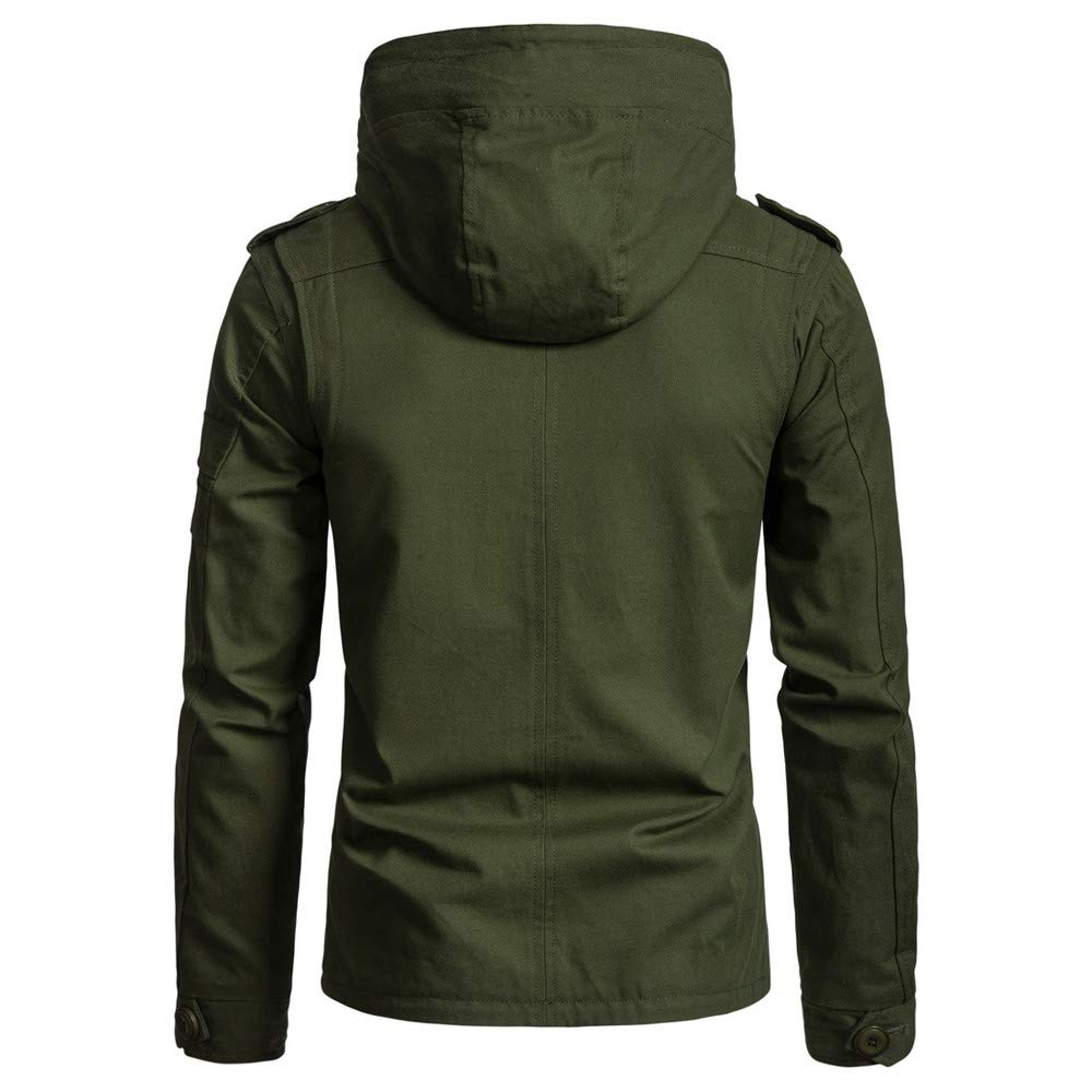 d0e1db29471 Amazon.com  Down Jacket Men Hooded Tall. Men s Autumn Winter Cap Cotton  Jacket Men Fashion Trend Coat  Clothing
