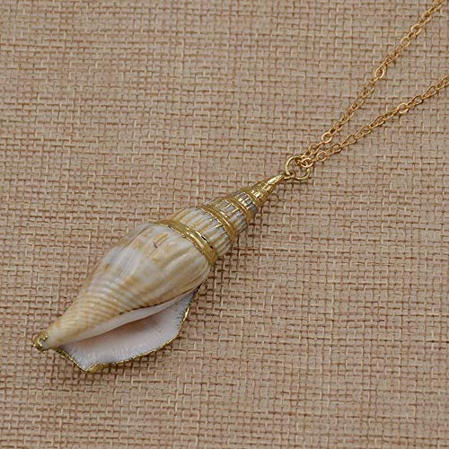 (Gifts Jewelry Collar Women Beach Style Necklace Natural Conch Shell Pendant)