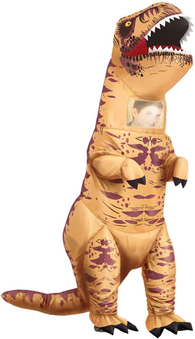 NET TOYS Disfraz de Dinosaurio Inflable para Adulto - Marrón L (ES ...