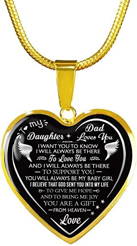 Luxury Necklace Gift for Daughter from Dad Father Papa Daddy To Daughter Gift