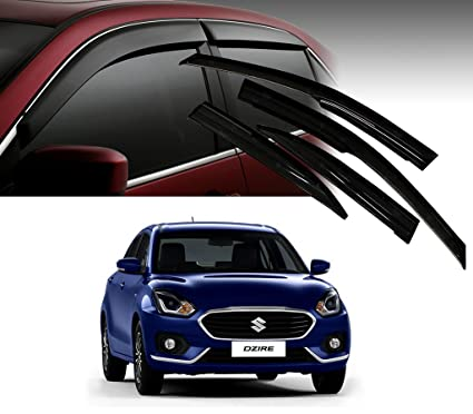 28f645b1f Image Unavailable. Image not available for. Colour: Auto Pearl Car Rain  Wind Door Visor Side Window Deflector for Maruti Suzuki Swift ...