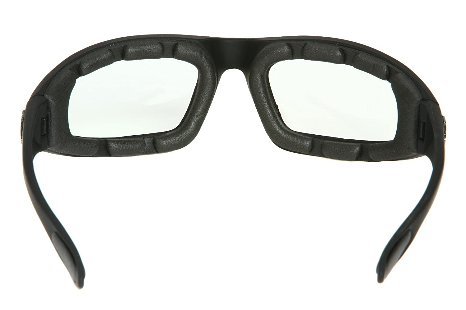 ce3b8591c3 Amazon.com  Chopper Men s Wind Resistant Motorcycle Wrap 65mm Clear Lens  Sunglasses  Clothing